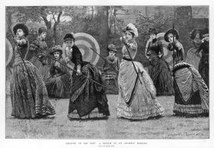 Ladies at an Archery Meeting by Lucien Davis