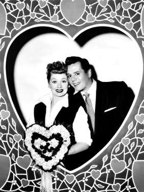 Lucille Ball, Left, and Desi Arnaz, Wishing their Fans a Happy Valentine's Day, 1956