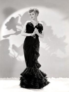 Lucille Ball Models a Lovely Black Gown, Publicity Still, 1940's