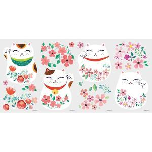LUCKY CAT PEEL AND STICK WALL DECALS