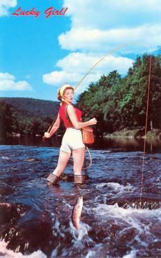 Lucky Girl! Fishing
