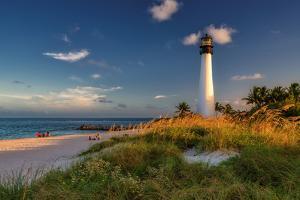 Lighthouse on the Beach, Cape Florida Lighthouse. by lucky-photographer