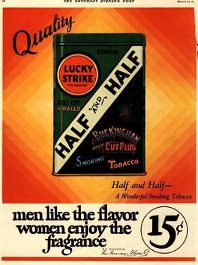 Lucky Strike, Cigarettes Smoking, USA, 1930