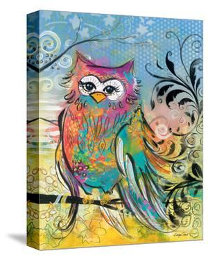 Rainbow Owl by Lucy Cloud