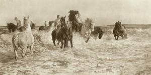 Horses Bathing by Lucy Elizabeth Kemp-Welch