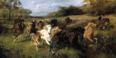 Colt Hunting in the New Forest by Lucy Kemp-Welch