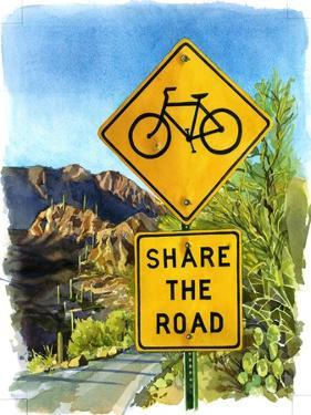 Share the Road, Gates Pass, 2004 by Lucy Masterman