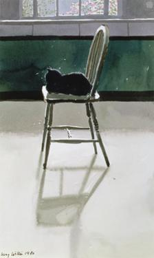 Cat on a Chair, 1986 by Lucy Willis