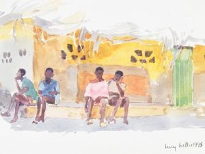 Children Waiting, 1998 by Lucy Willis