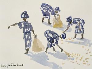 Clearing Leaves, Senegal, 2003 by Lucy Willis