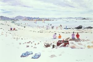 Cobo Bay, Guernsey, 1987 by Lucy Willis
