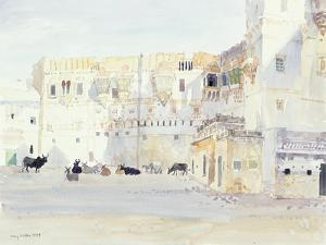 Evening at the Palace, Bhuj, 1999 by Lucy Willis