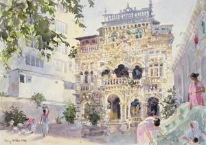 House on the Hill, Bombay, 1991 by Lucy Willis