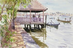 The Jetty, Cochin, 1991 by Lucy Willis