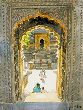 The Maheshwar Temple, 2003 by Lucy Willis