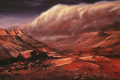 Artist's Impression of the Martian Surface