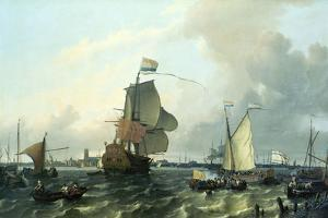 """""""Brielle"""" William III, Embarkation to England,1688 by Ludolf Backhuysen"""
