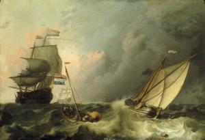 Shipping on a Choppy Sea by Ludolf Backhuysen