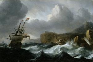 Stormy Sea by Ludolf Backhuysen