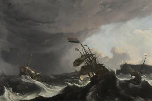 The Battle of Terheide, C.1695 by Ludolf Backhuysen