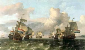The Dutch Fleet of the India Company, 1675 by Ludolf Backhuysen