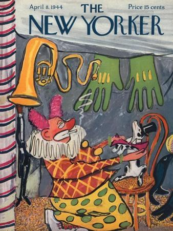 The New Yorker Cover - April 8, 1944 by Ludwig Bemelmans