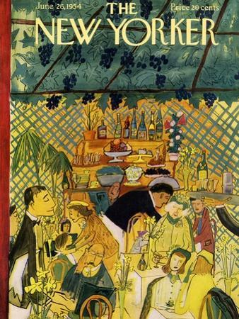 The New Yorker Cover - June 26, 1954 by Ludwig Bemelmans