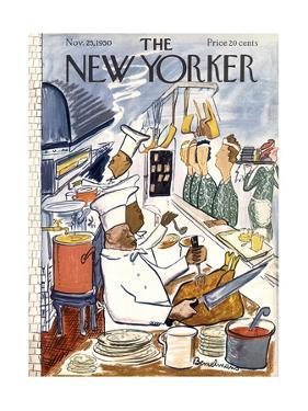 The New Yorker Cover - November 25, 1950 by Ludwig Bemelmans