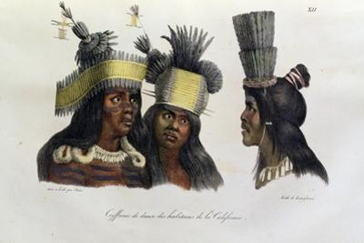 Ritual Headdresses Worn by Natives of California, from 'Voyage Pittoresque Autour Du Monde',… by Ludwig Choris