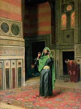 In the Mosque by Ludwig Deutsch