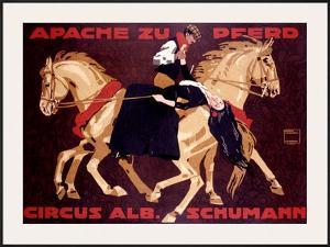 Circus Schumann, Apache Zu Pferd by Ludwig Hohlwein