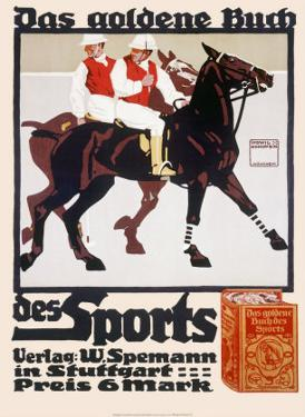 Golden Book of Sports, Horse Polo by Ludwig Hohlwein