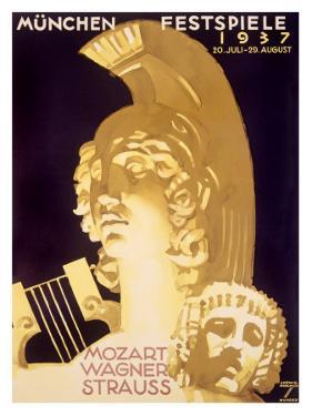 Munich Music Festival, c.1937 by Ludwig Hohlwein