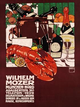 Wilhelm Mozer Poster by Ludwig Hohlwein
