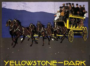Yellowstone Park by Ludwig Hohlwein