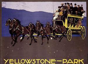 Yellowstone Park by Ludwig Hohlwein