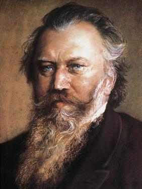 Johannes Brahms by Ludwig Michalek