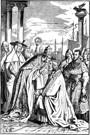 Frederick I Barbarossa and Pope Alexander III in Venice, 1840