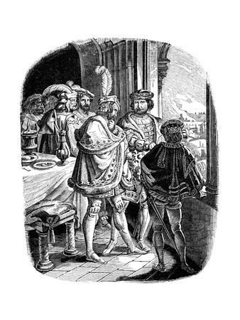 Frederick I' Meal in Heidelberg Castle 1462, 1840