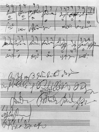Handwritten Musical Score (Ink on Paper)