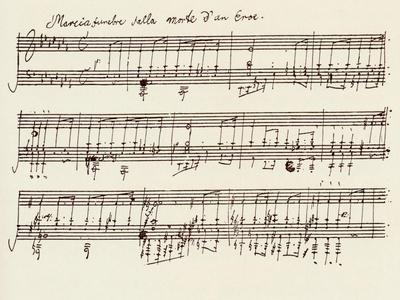 Portion of the Manuscript of Beethoven's a Flat Major Sonata, Opus 26