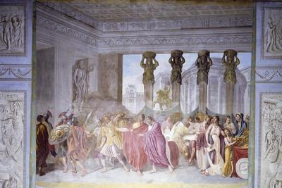 Trajan Dismissing His Armed Guard in Conspirator Licinius Sura's House, 1820