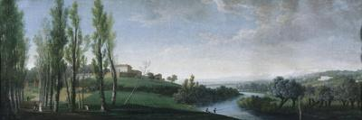Landscape with a House and Fishermen Along a River