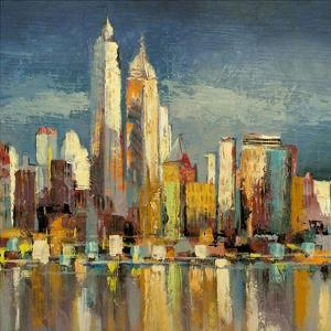 Manhattan Aqua (detail) by Luigi Florio
