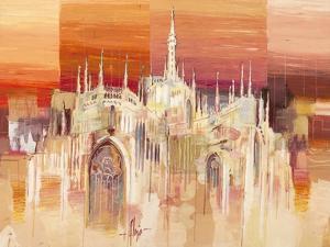 Milano al tramonto by Luigi Florio