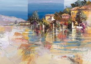 Paese sul lago by Luigi Florio