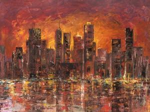 Sunset in New York by Luigi Florio