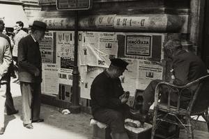 A Shoeshine Man on a Street in Rome by Luigi Leoni