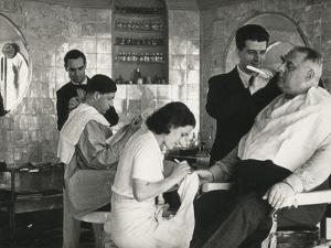 Barber Shop and Manicure by Luigi Leoni
