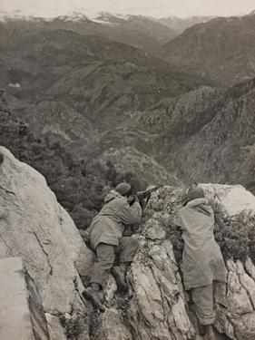 Partisans Posted on the Spur of a Rock During the Second World War by Luigi Leoni